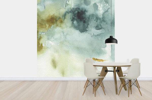 The Tenderest Interior: Abstract Watercolours on Modern Wallpapers, фото № 17