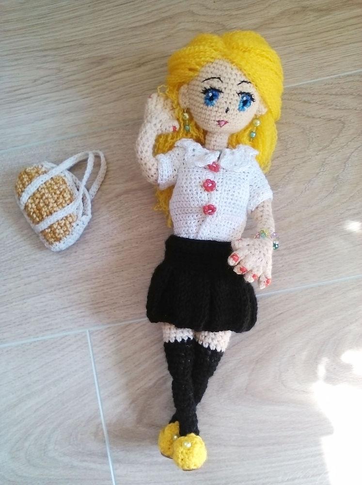 кукла ручной работы, кукла вязаная крючком