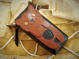 Кожаный пенал  «Котик». Ярмарка Мастеров - ручная работа, handmade.