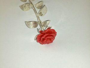 Скидка 10%. К 8 марта серебряная роза!. Ярмарка Мастеров - ручная работа, handmade.