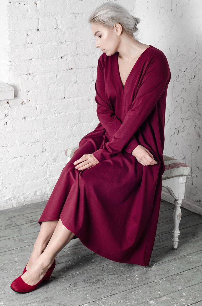 50 размер, 54 размер, платье, платье для беременных, 48 размер, платье на весну, удобное платье, платье оверсайз, платье для прогулки, красное платье