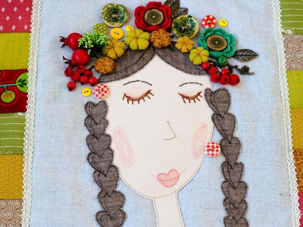 «Красавица Осень»: шьем текстильное панно с кармашками | Ярмарка Мастеров - ручная работа, handmade