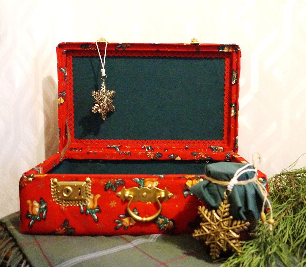 старый чемодан, чемоданы, хранение ёлочных игрушек, новогодний интерьер
