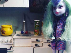 Делаем кухонную тумбу, раковину и водопроводный кран для кукол. Ярмарка Мастеров - ручная работа, handmade.