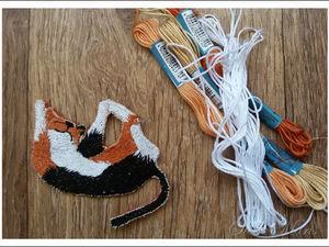 """Вышивка-оберег """"Котик для Дашеньки"""". Ярмарка Мастеров - ручная работа, handmade."""