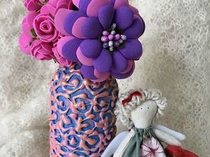 Декор бутылки своими руками: видеоурок. Ярмарка Мастеров - ручная работа, handmade.
