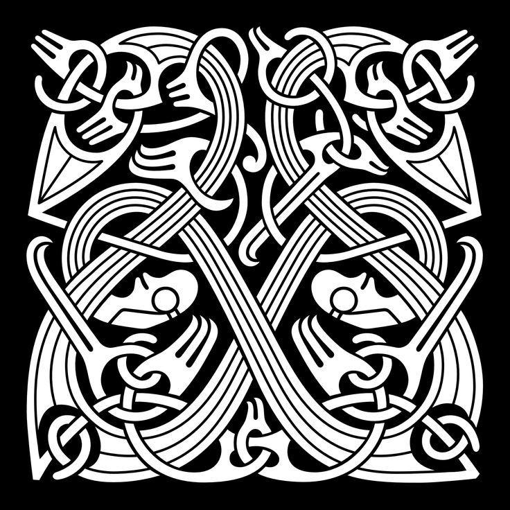 скандинавские узоры картинки трафареты шашлык приготовлен