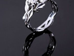Видео кольца из белого золота с бриллиантами | Ярмарка Мастеров - ручная работа, handmade