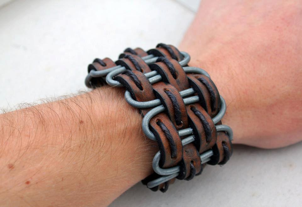 Мужские браслеты с кожи своими руками