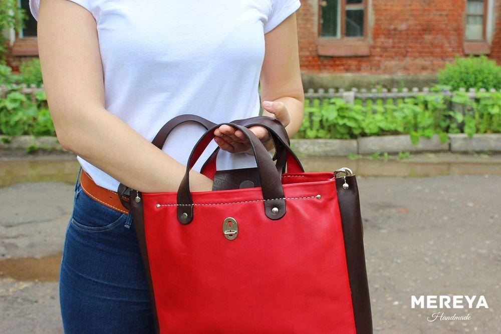 сумка красная, сумка с ремнем, подарок любимой, сумка из кожи женская