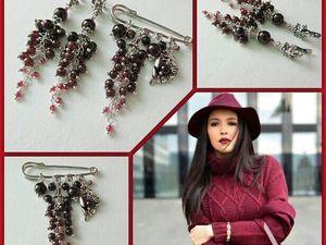 Анонс! Новый комплект с гранатом Виноградная гроздь от Olga Gardenia. Ярмарка Мастеров - ручная работа, handmade.