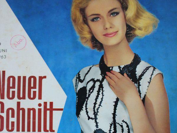 Neuer Schnitt — старый немецкий журнал мод 6/1963 | Ярмарка Мастеров - ручная работа, handmade