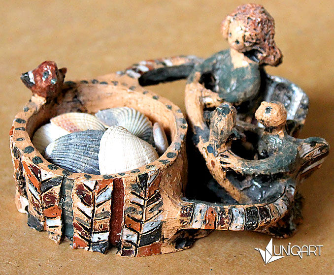 шкатулочка, шкатулка ручной работы, керамика ручной работы, авторская керамика, хранение украшений, ангелочки, hand made
