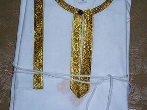 Рубашка для крещения и погружения в святые источники. Ярмарка Мастеров - ручная работа, handmade.