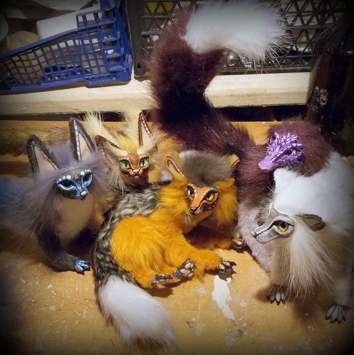 распродажа, игрушки, каркасные игрушки, авторские игрушки, подарок, талисман, оберег, амулет, лис, волк, кот, дракон