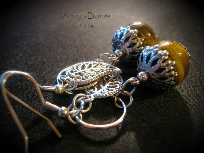 золушка, серьги, коричневый, оранжевый, ореховый, подарок, украшение, бижутерия своими руками