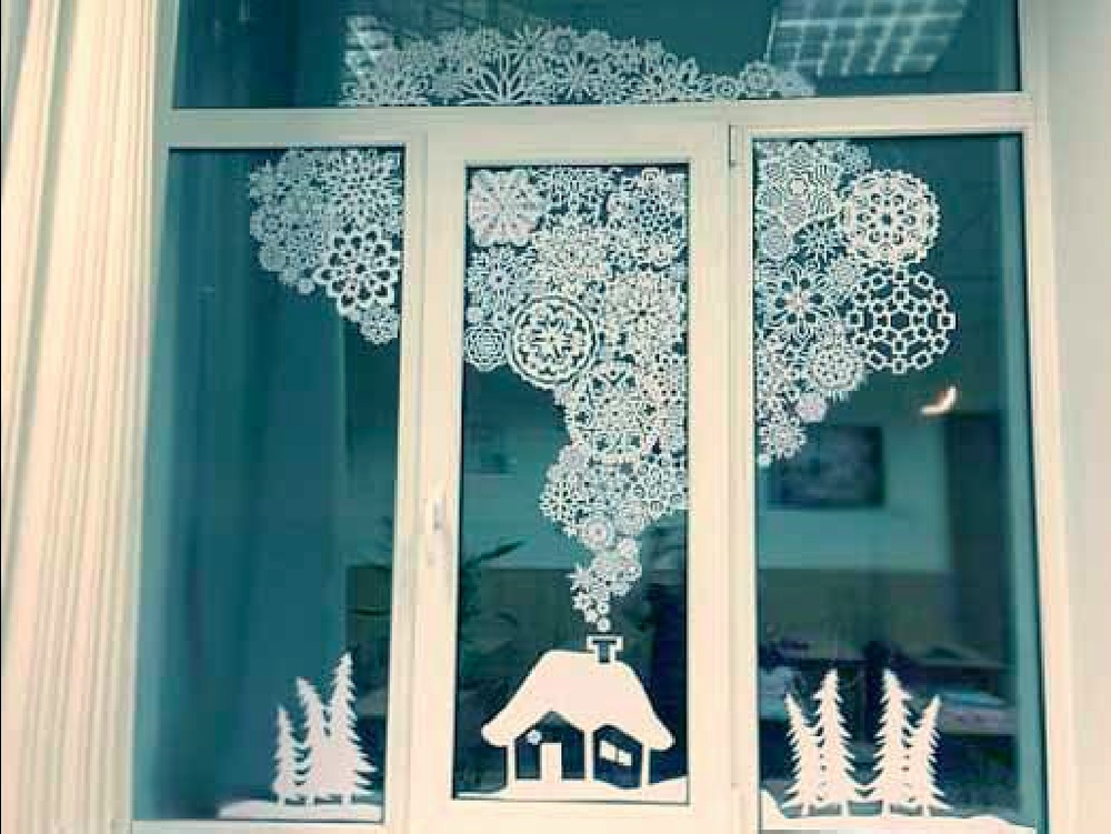 How to Decorate Windows for New Year: 20 Great Ideas, фото № 3