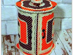 Делаем круглую шкатулку для мелочей «Горошковый калейдоскоп». Ярмарка Мастеров - ручная работа, handmade.