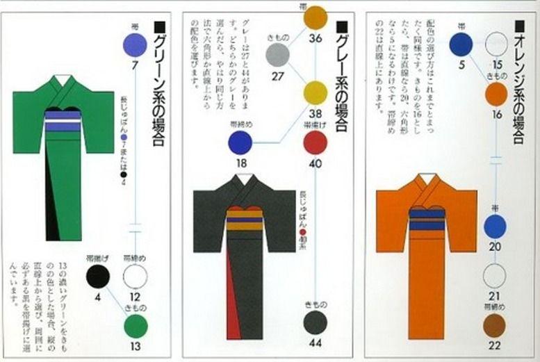 подбор оби для кимоно