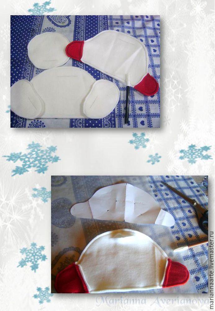 Мастер-класс по созданию забавной новогодней игрушки «Снеговичок-тюфячок», фото № 8