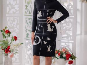 Аукцион на вязаное платье с валяным декором! Старт 3000 р. !. Ярмарка Мастеров - ручная работа, handmade.