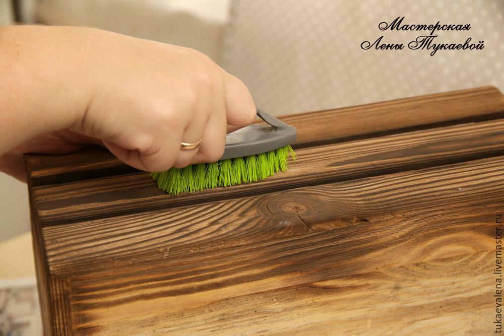 Браширование древесины и обжиг