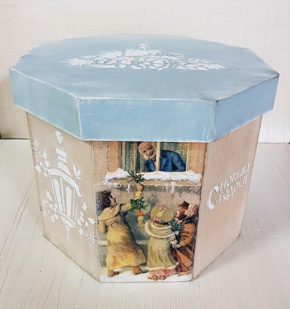 «В ожидании праздника»  короб для елочных игрушек, фото № 1