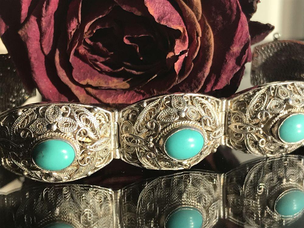 винтаж, серебряный браслет, подарок на день рождения