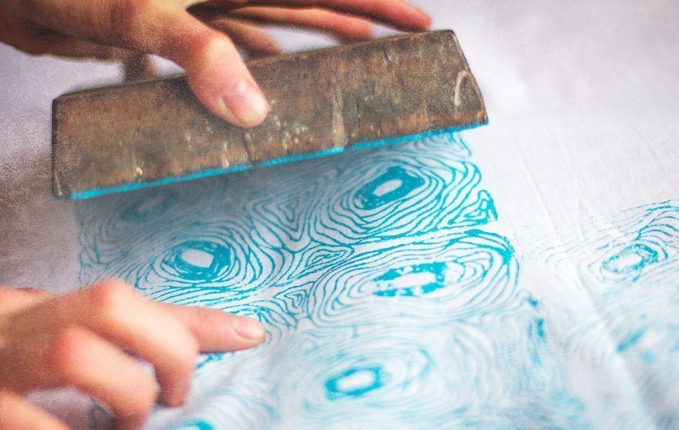 печать на ткани, штампы по ткани