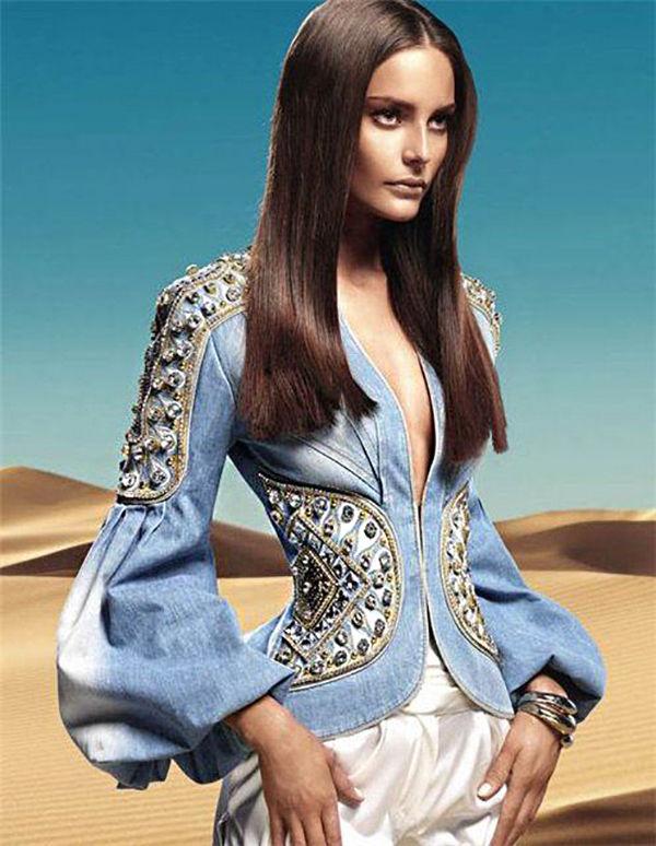 Многообразный декор джинсовых курток: 50 интересных вариантов, фото № 35