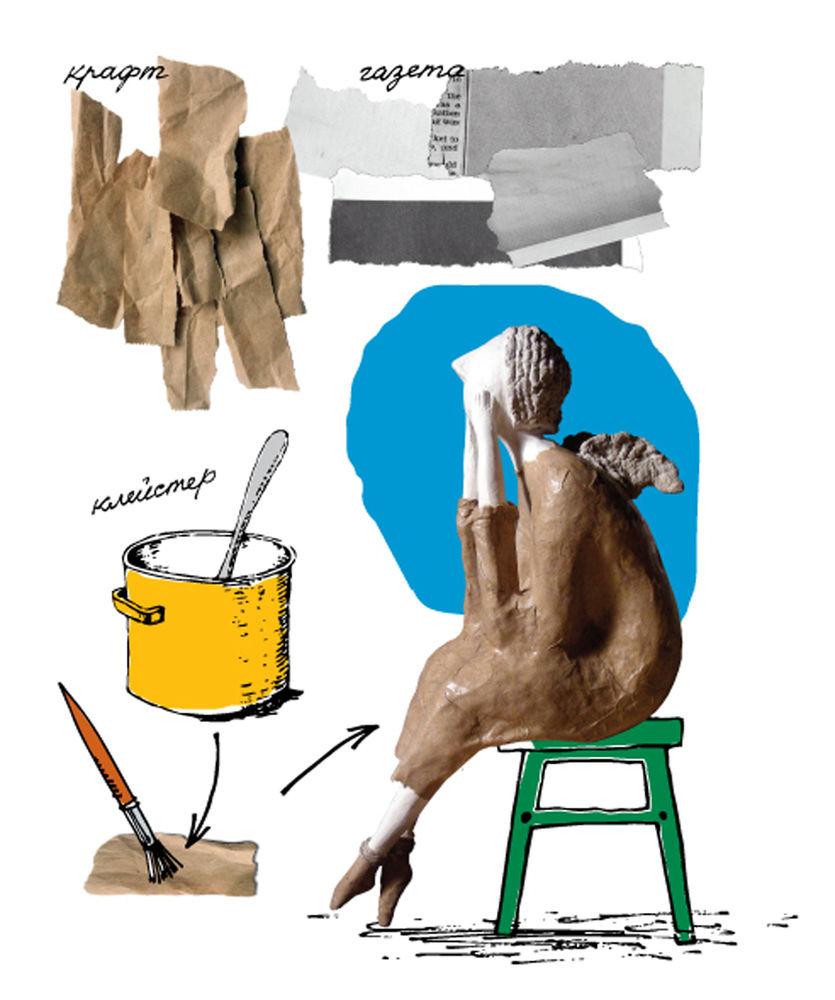 папье-маше, бумага, куклы, мастер-класс, ручная работа, творчество