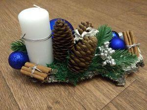Делаем новогоднюю композицию в экостиле. Ярмарка Мастеров - ручная работа, handmade.