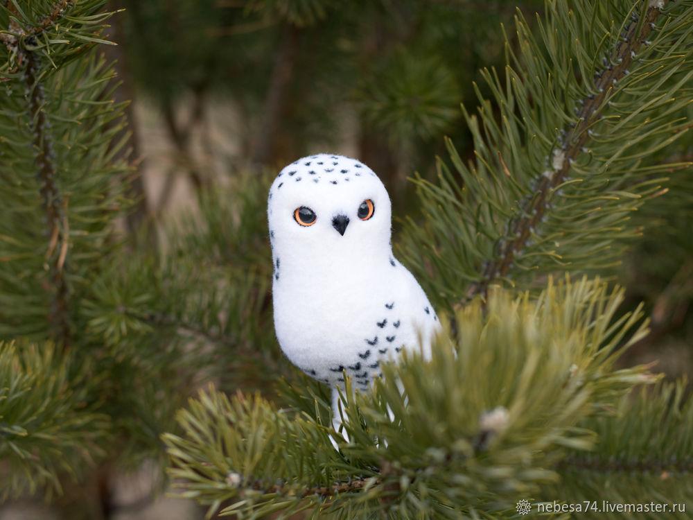 """Estamos haciendo un juguete de árbol de Navidad """"White Polar Owl"""", foto # 19"""