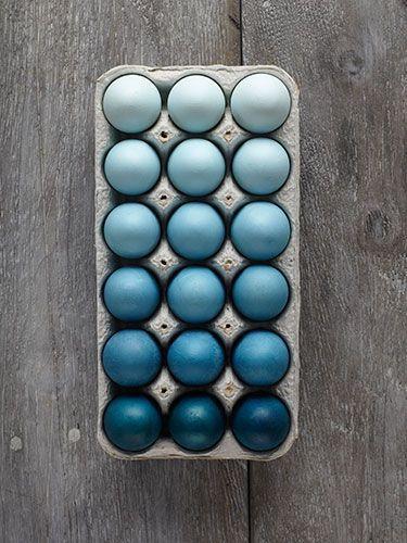 ombr easter eggs