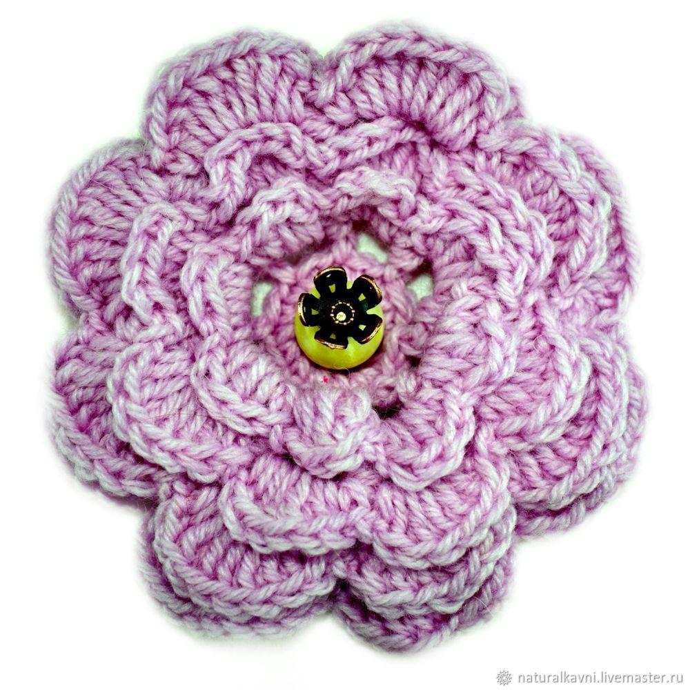 вязание крючком, цветочек крючком