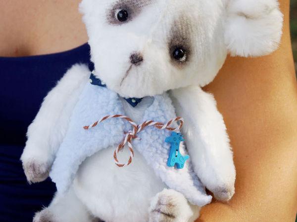Белый,наивный, пушистый мишка! | Ярмарка Мастеров - ручная работа, handmade