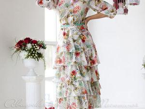 Аукцион на цветочное платьице из шифона! Старт 2500 р. !. Ярмарка Мастеров - ручная работа, handmade.