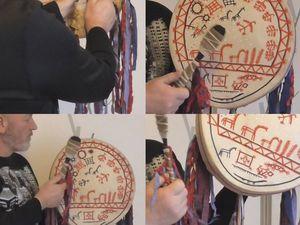 Шаманский бубен телеутов (южный Алтай). Точная копия  в натуральную величину. Ярмарка Мастеров - ручная работа, handmade.