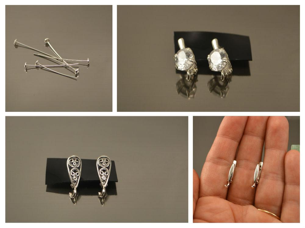 серебряная фурнитура, фурнитура из серебра, фурнитура для бижутерии, фурнитура для украшений, фурнитура серебро, серебряные замочки, серебряные швензы