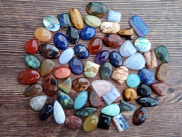 ЗАВЕРШЕН Аукцион на кабошоны, бусины, подвески из натуральных камней и фурнитуру! | Ярмарка Мастеров - ручная работа, handmade