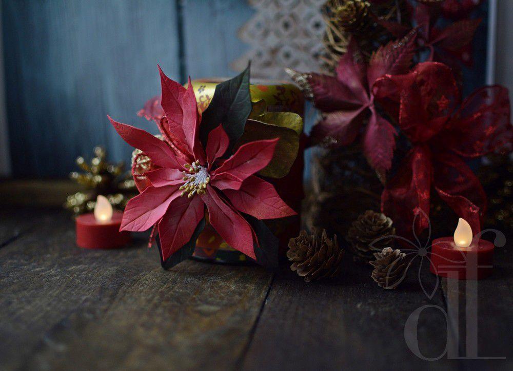 мастер-класс, мастер-класс по фоамирану, цветы из фоамирана, к новому году, новогодние подарки