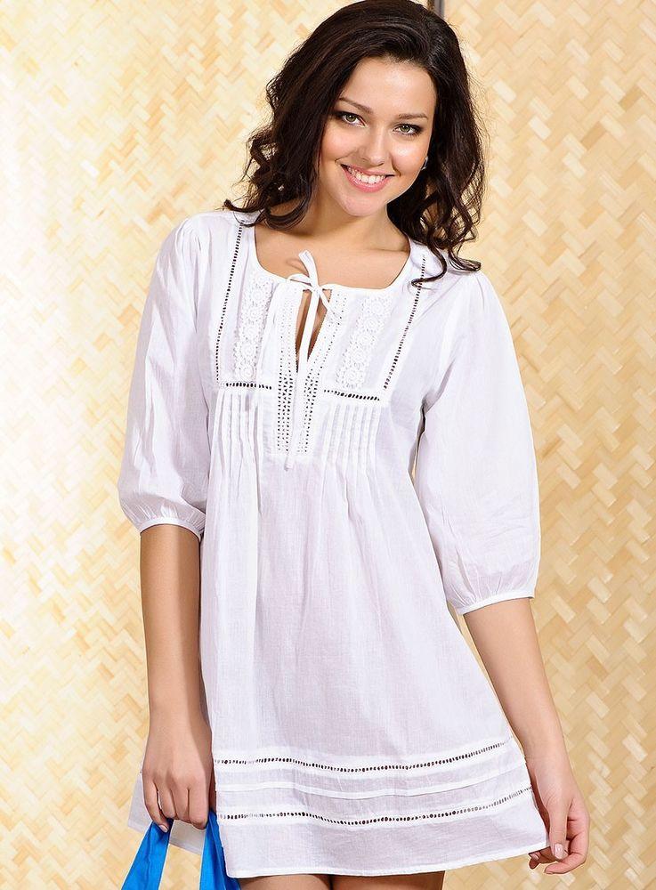 Белое бохо, или Шикарная одежда для королевы летнего пляжа, фото № 26