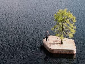 Искусственный остров безмятежности курсирует в гавани Копенгагена. Ярмарка Мастеров - ручная работа, handmade.