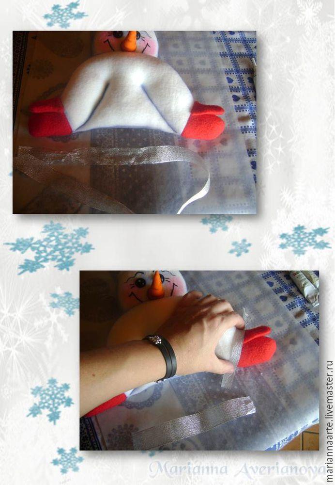 Мастер-класс по созданию забавной новогодней игрушки «Снеговичок-тюфячок», фото № 23