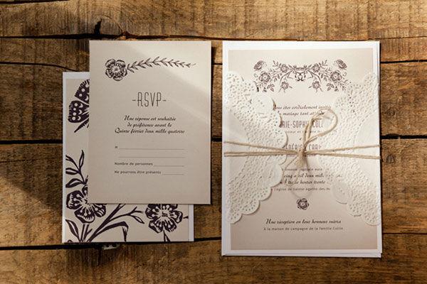 Приглашения на свадьбу рустик