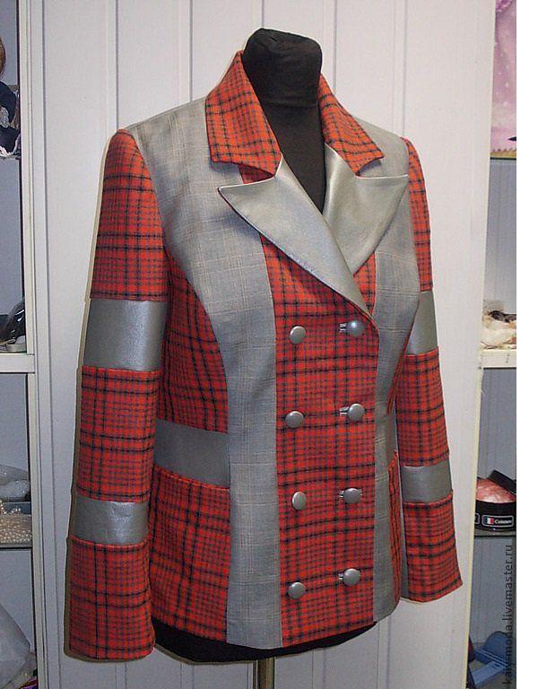 аукцион, пиджак с кожей