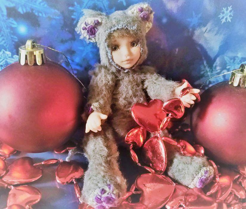 рождество христово, тедди долл, doll, juliaartdolls, мышонок, подарок