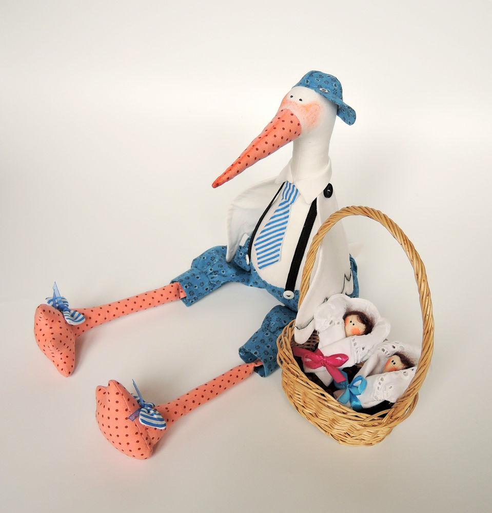 игрушка аист, интерьер детской