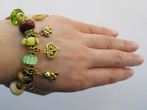 Скидка 15% на браслет «Золотая осень». Ярмарка Мастеров - ручная работа, handmade.