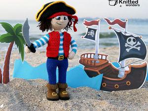 Видеообзор вязаной игрушки. Пират. Ярмарка Мастеров - ручная работа, handmade.